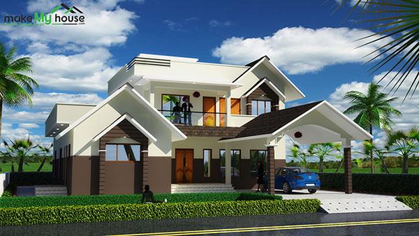 3d front elevation design indian front elevation kerala for My home 3d